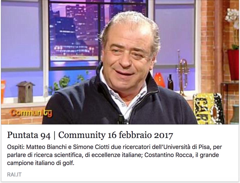 Costantino Rocca Ospite A Community Rai