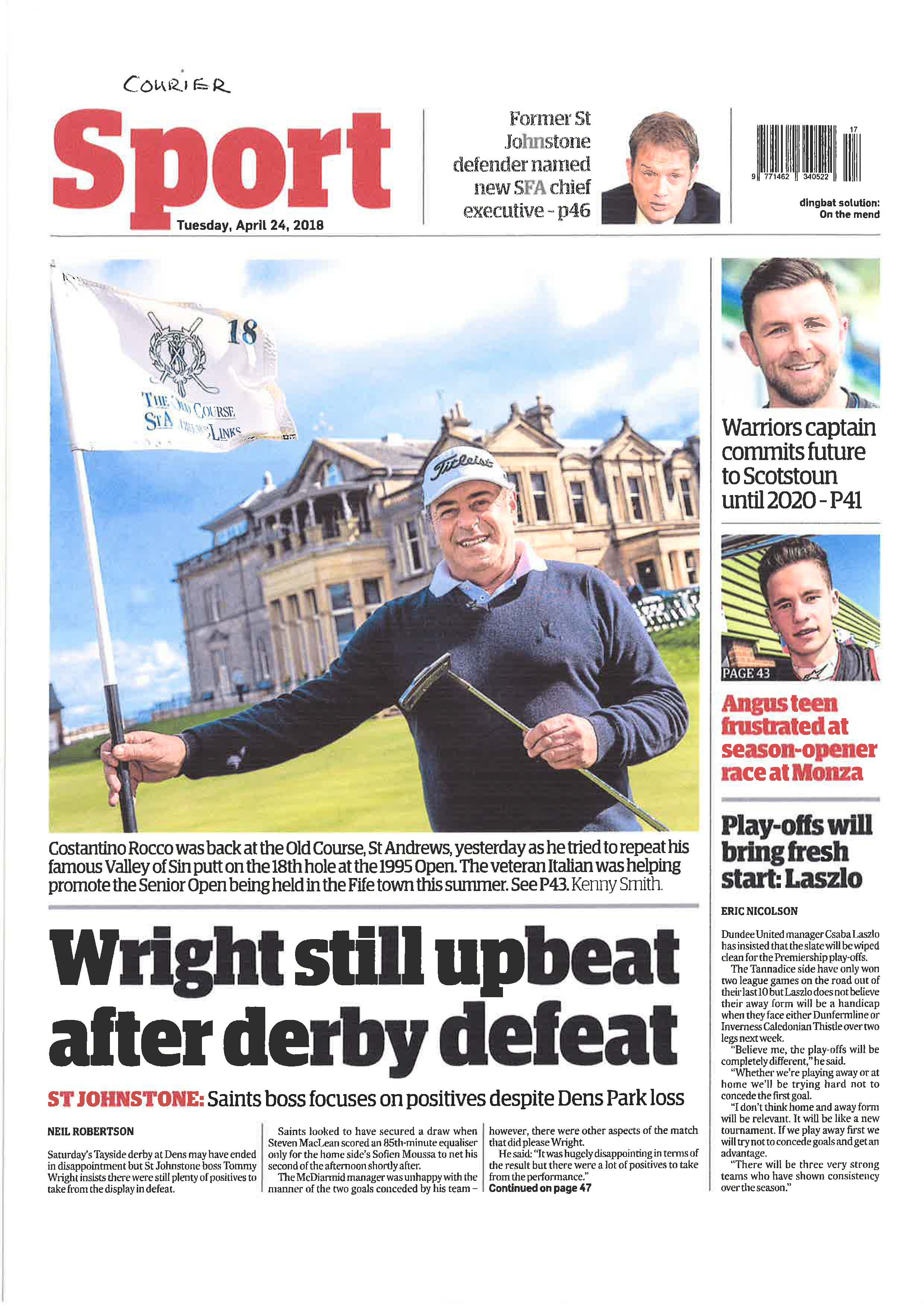 Daly And Rocca Ready To Renew Great Rivalry Over The Old Course